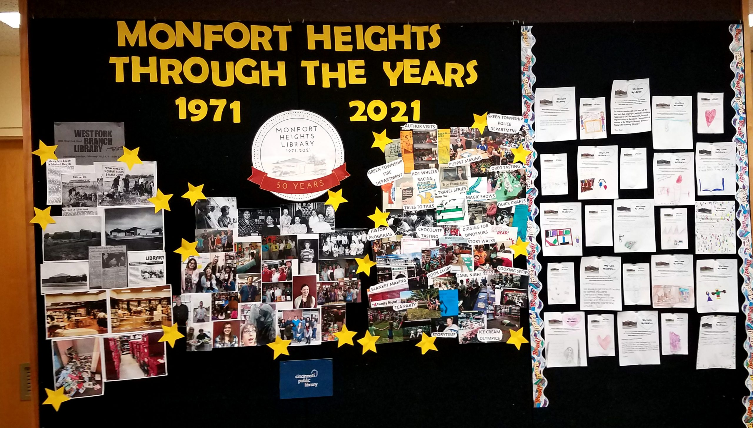 Monfort Heights 50th anniversary display