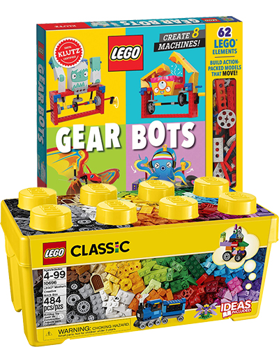 LEGO GearBots and bricks